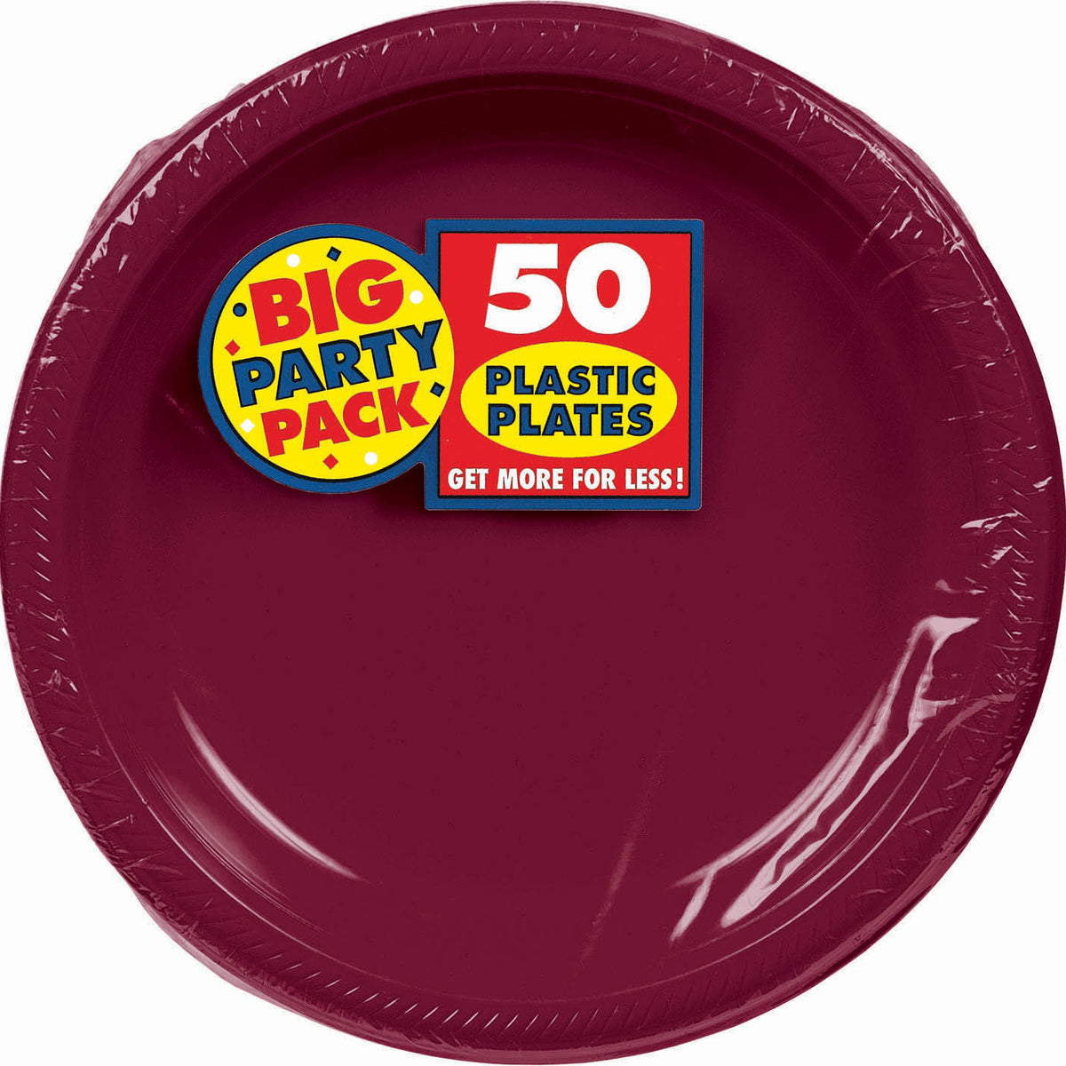 Burgundy Big Party Pack Dinner Plates