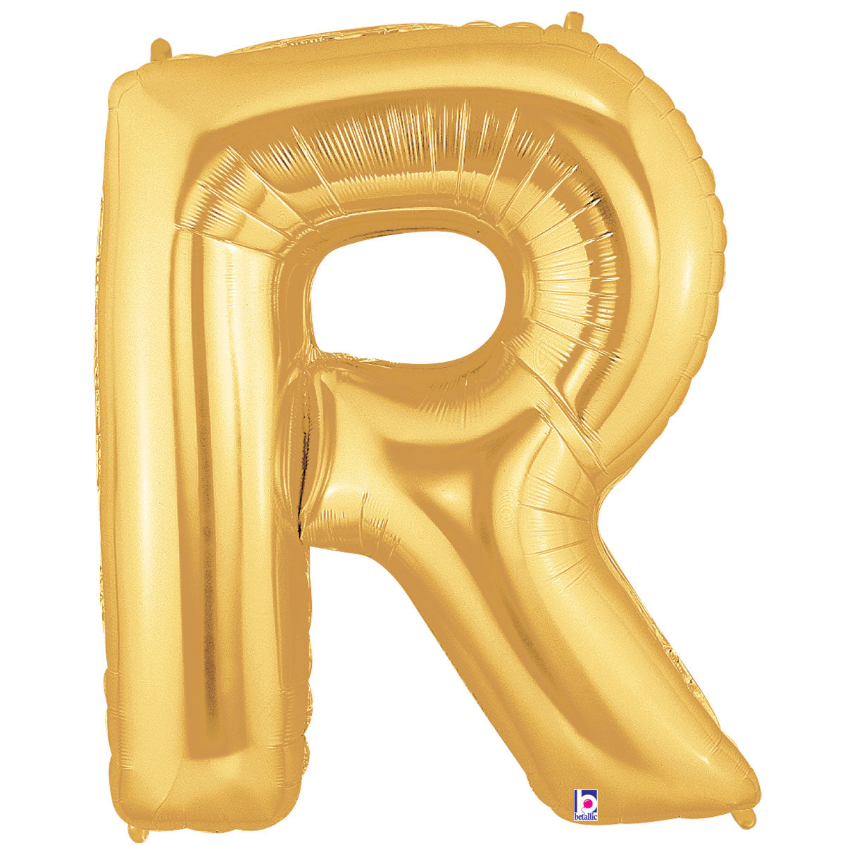 Letter R Gold 40 in. Mylar Balloon