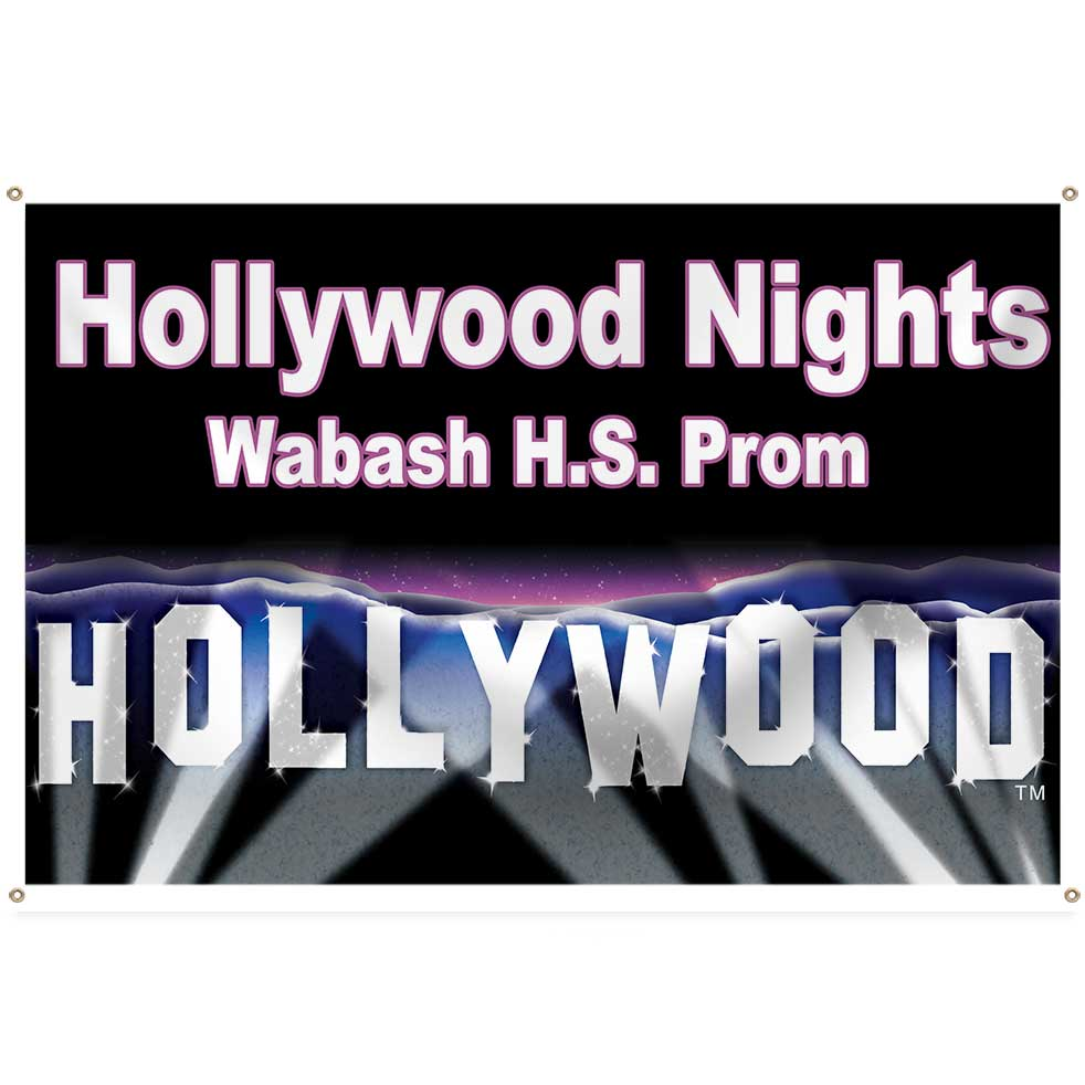 Hollywood Hills Personalized Square Banner