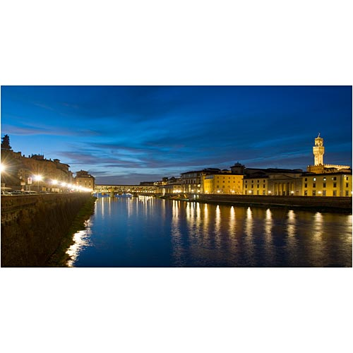 Twilight on the Ponte Vecchio Photo Backdrop