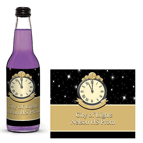 Time Glass Bottle Label