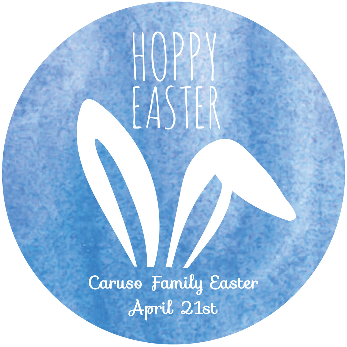 Hoppy Easter Personalized Sticker