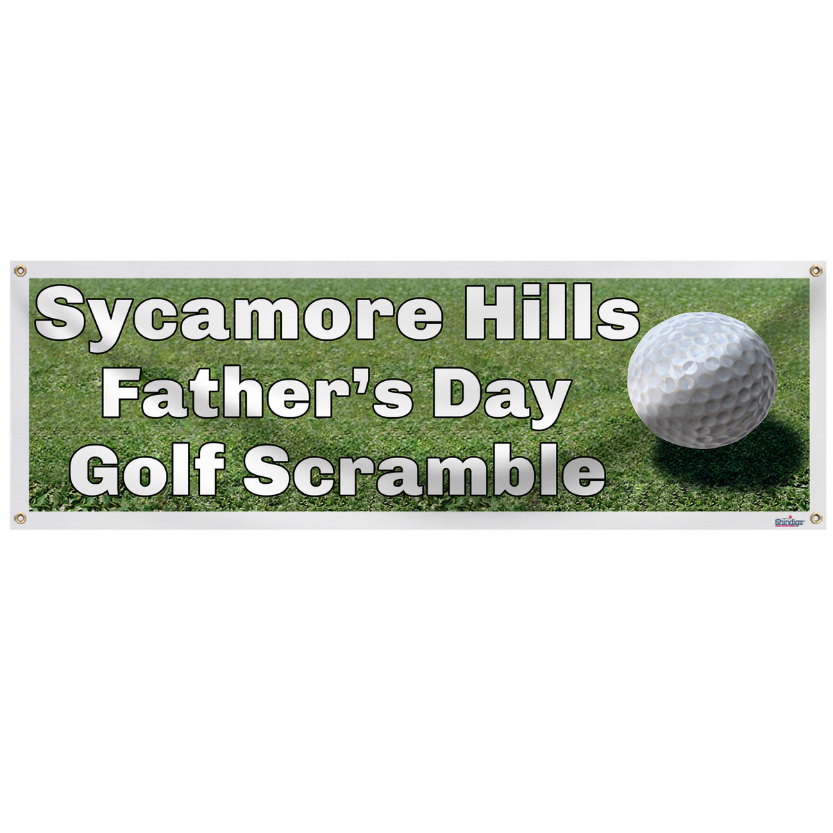 Golf Green Personalized Banner