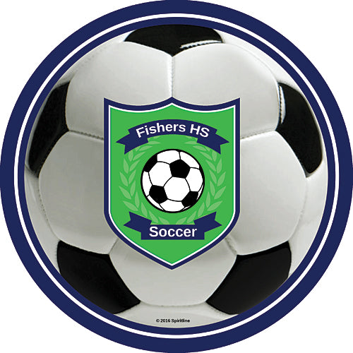 Soccer Spirit Personalized Stickers
