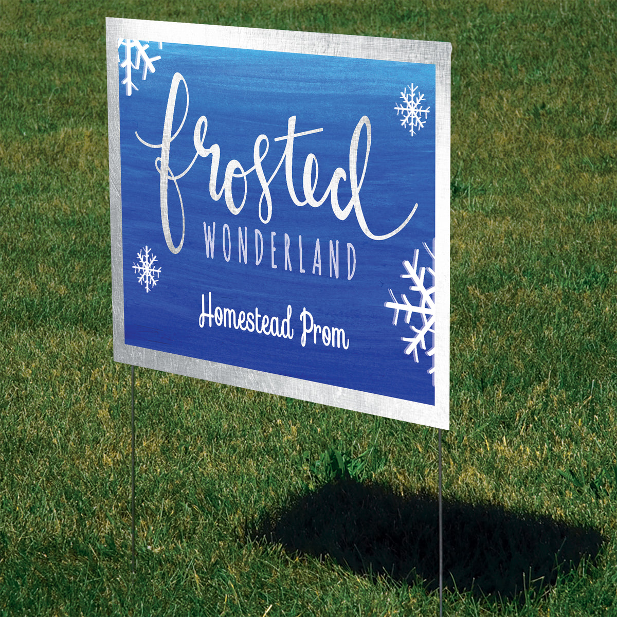 Frosted Wonderland Personalized Yard Sign