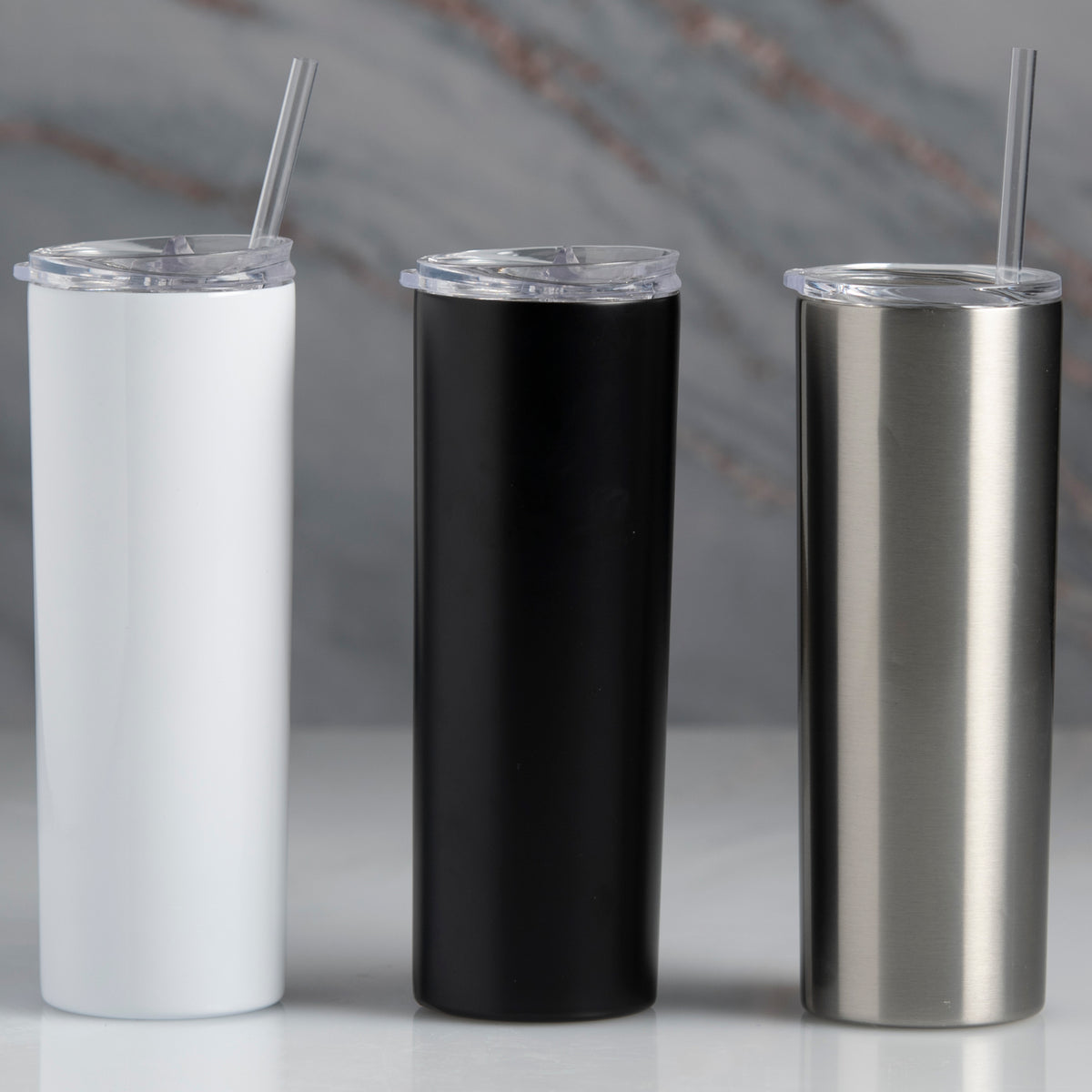 Skinny Stainless Tumbler with Straw