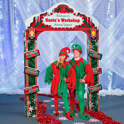 10 ft. Santa's Workshop Personalized Arch
