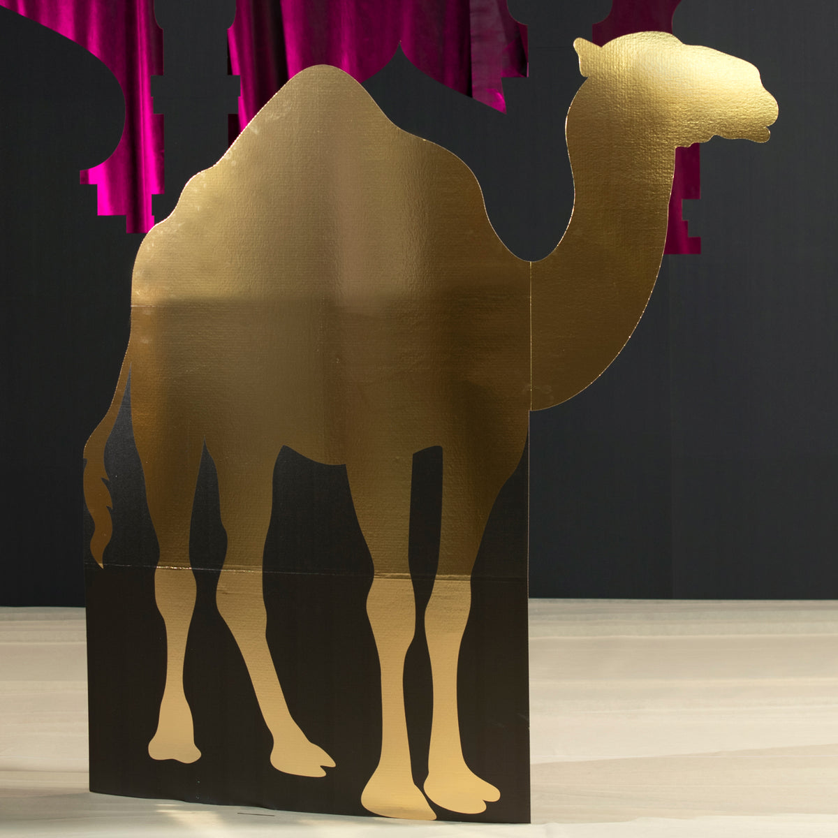 6 ft. 2 in. Right Facing Gold Camel Silhouette Standee