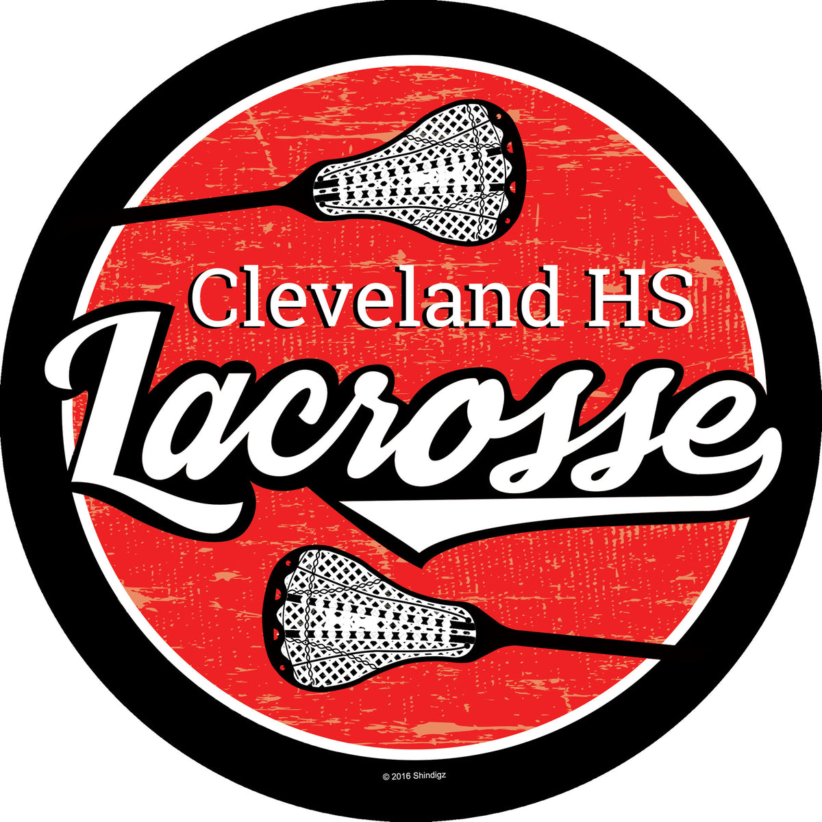 Lacrosse Spirit Personalized Sticker