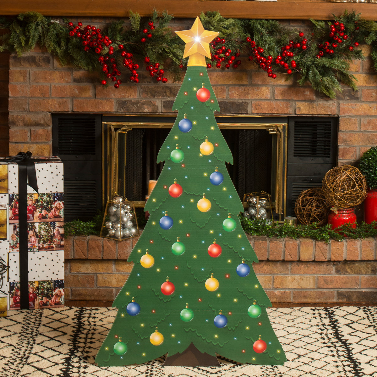 4 ft. 4 in. Small Christmas Tree Standee