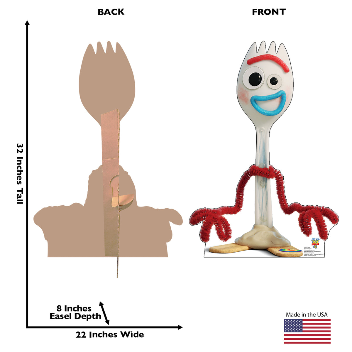 Toy Story 4 Forky Standee