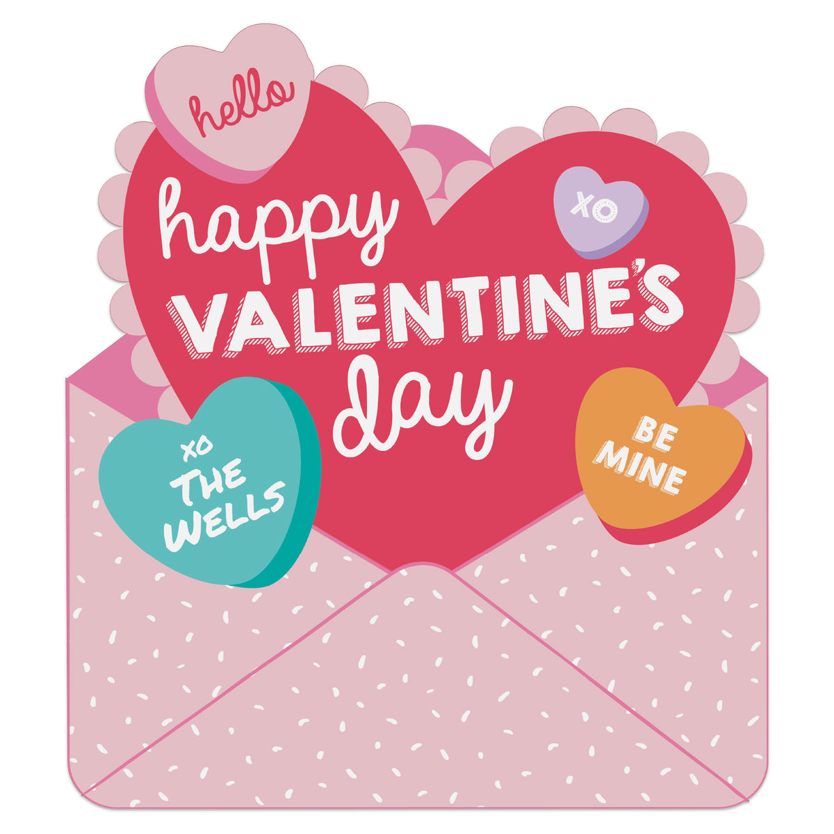 2 ft. 3 in. Hello Valentine Yard Card Yard Sign