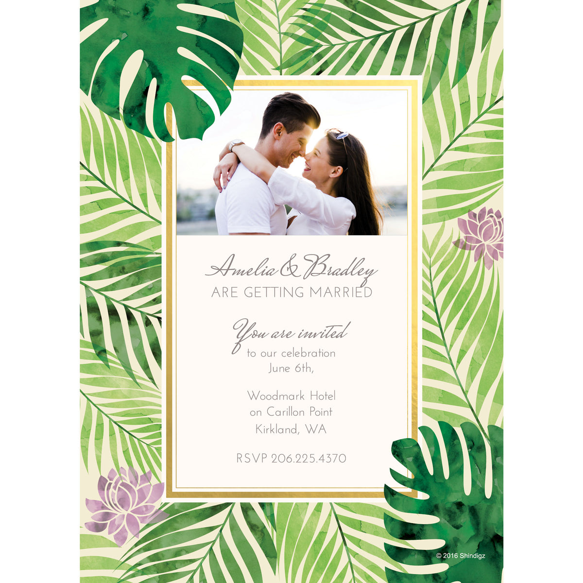 Tropical Elegance Photo Cards