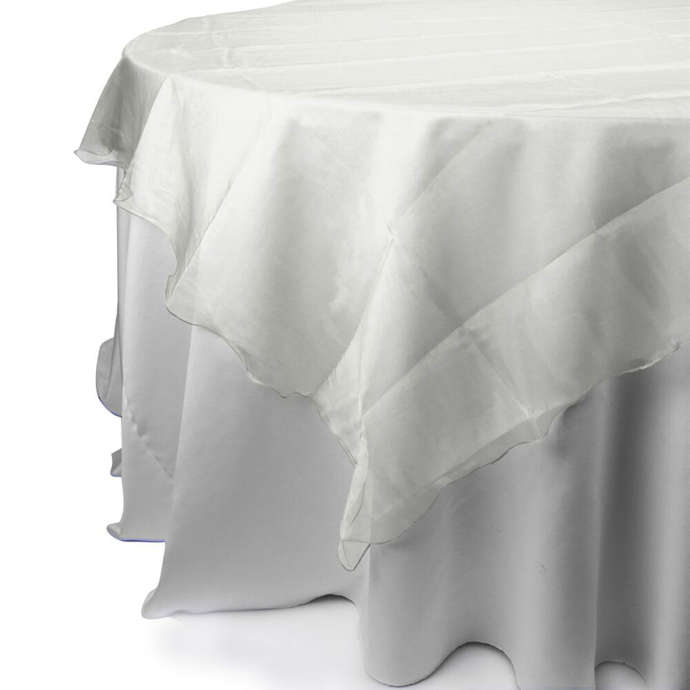 White Sheer Organza Square Overlay