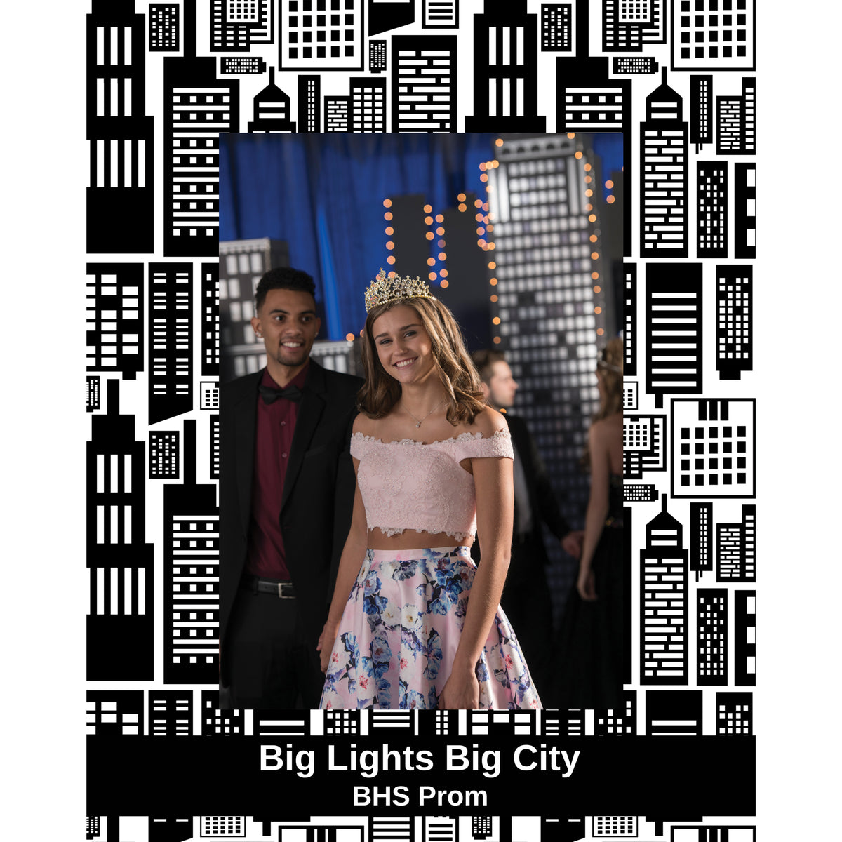 Big City Lights Personalized Glass Frame