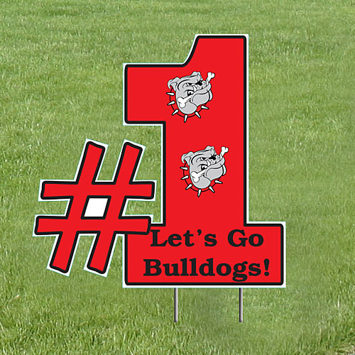 2 ft. #1 Shaped Yard Sign