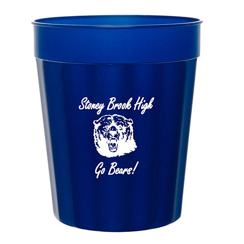 Navy Blue 16 ounce Fluted Stadium Cup