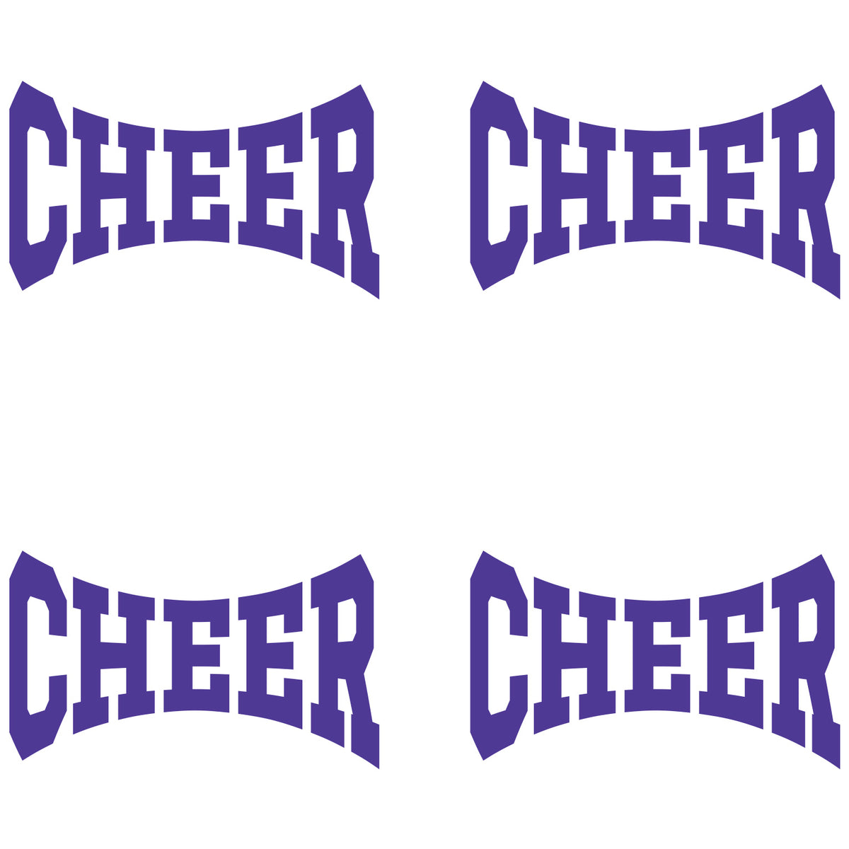 Purple Cheer Waterless Tattoos
