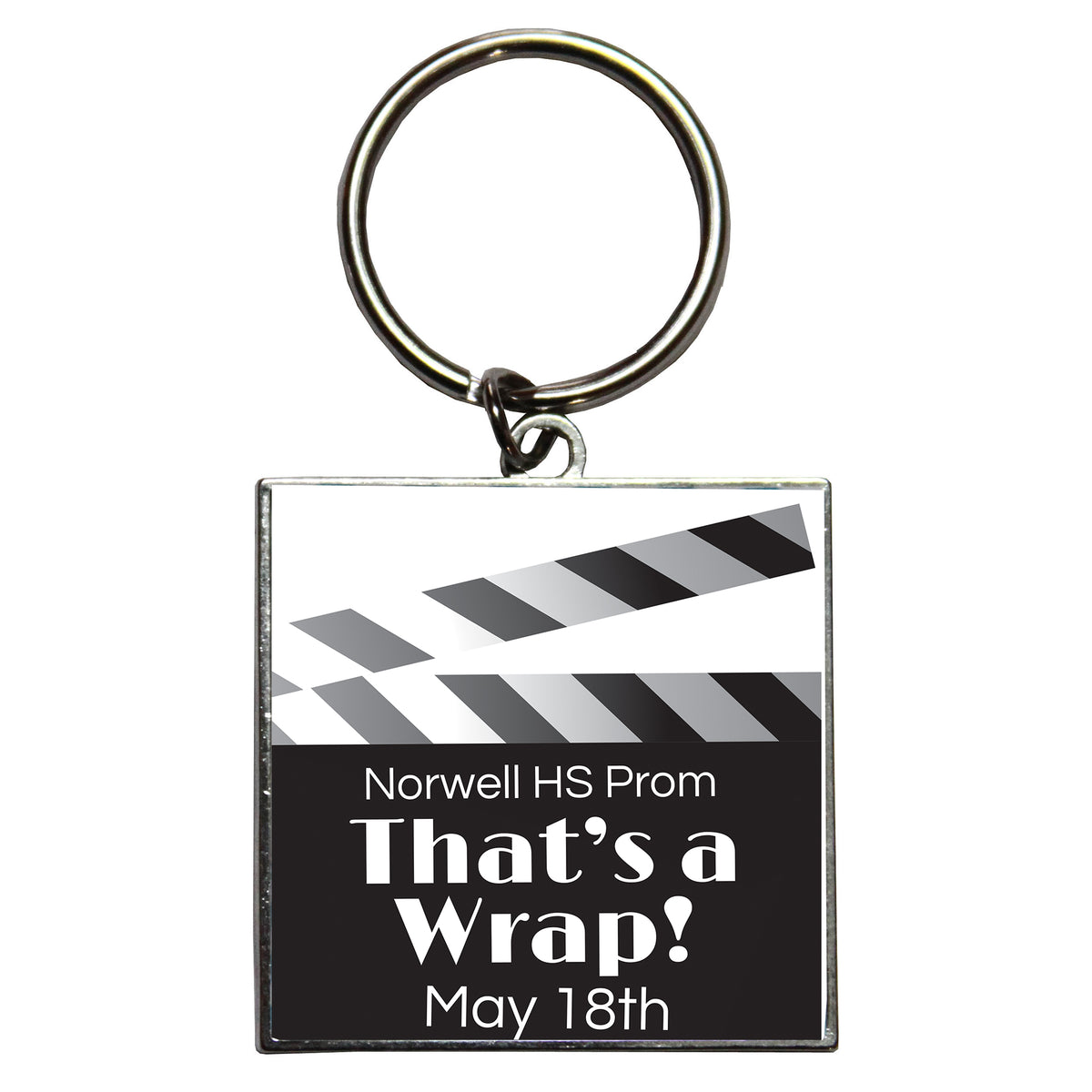 That's a Wrap Personalized Dome Key Chains