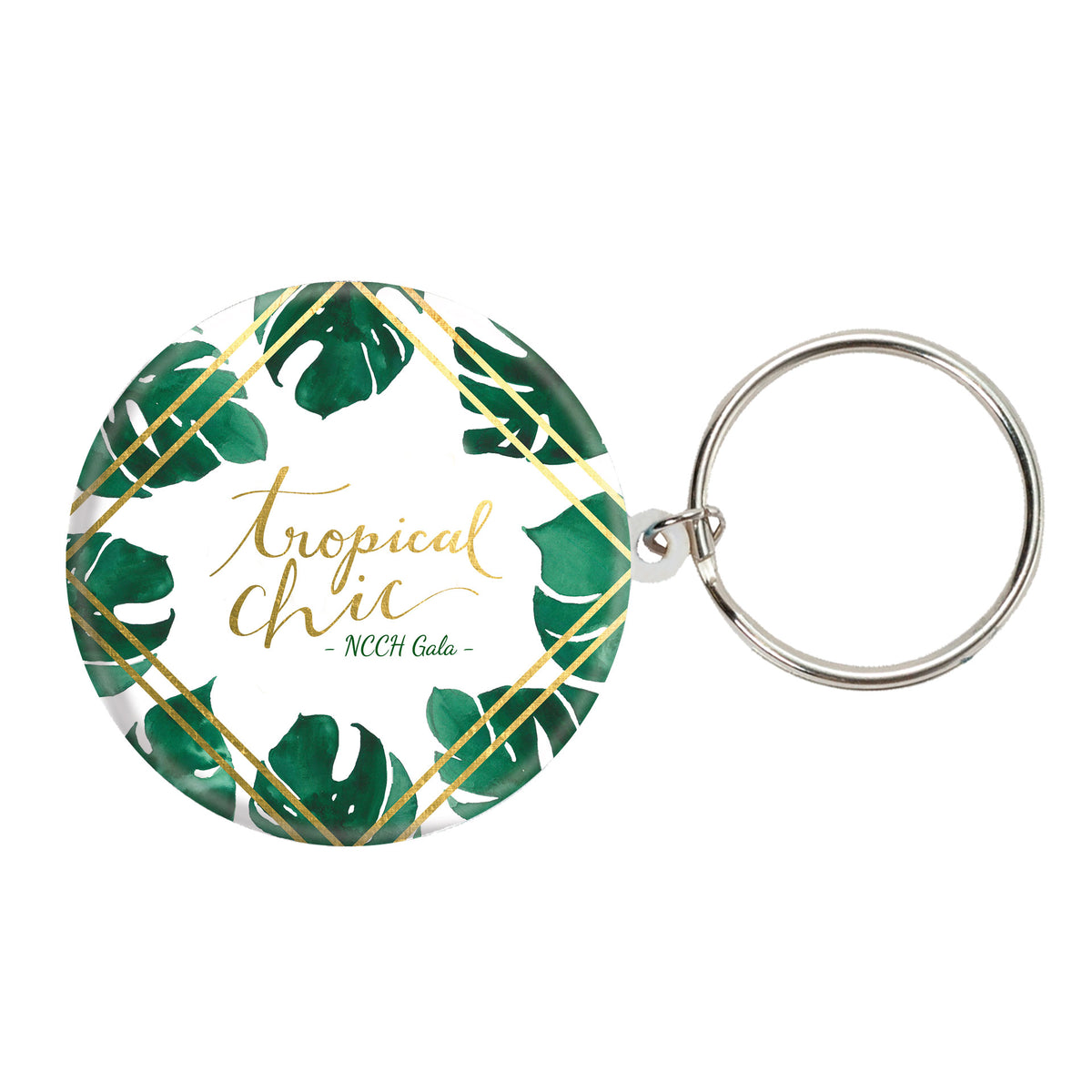 Tropical Chic Personalized Key Chains