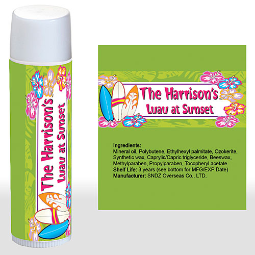 Tropical Surf Personalized Lip Balm
