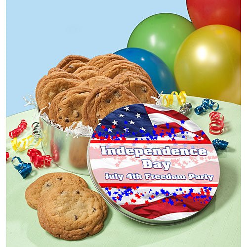 American Flag Personalized Cookie Tin