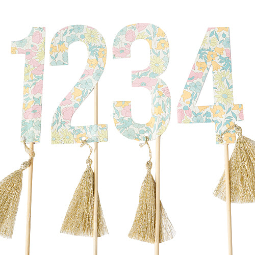 Liberty Print Table Number Flags