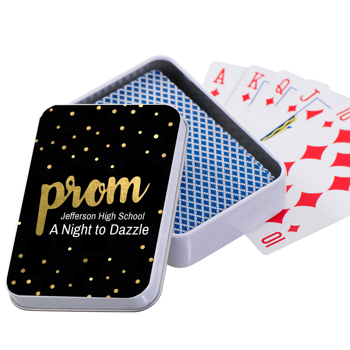 Prom Confetti Personalized Playing Card Cases