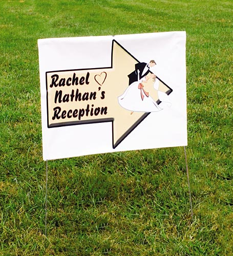 Reception Direction Yard Sign