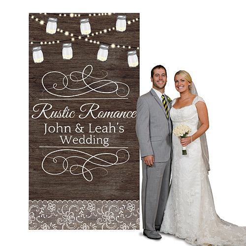 Rustic Romance Custom Photo Booth Background
