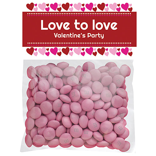Hearts And Love Custom Favor Bags
