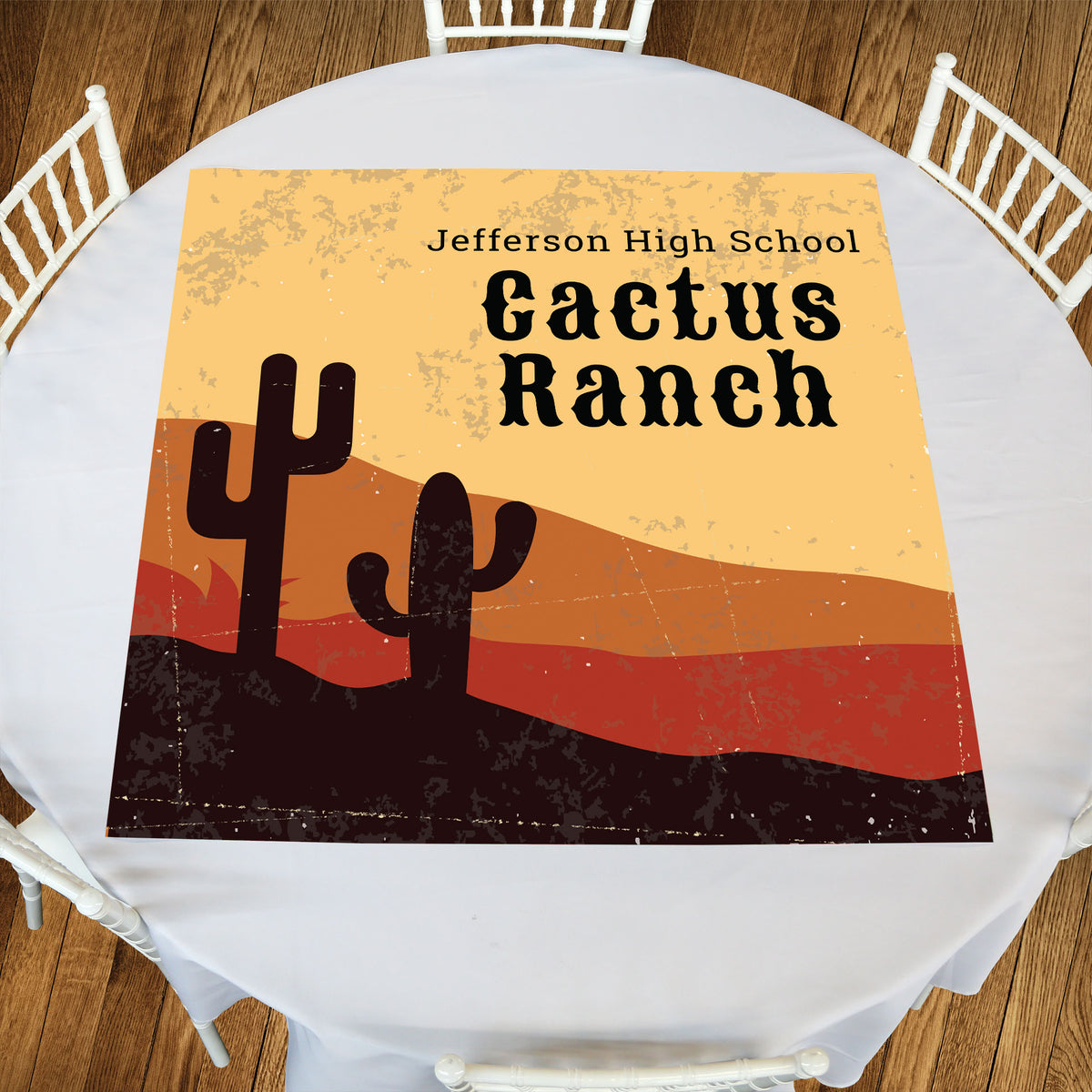 Cactus Ranch Square Table Top-It