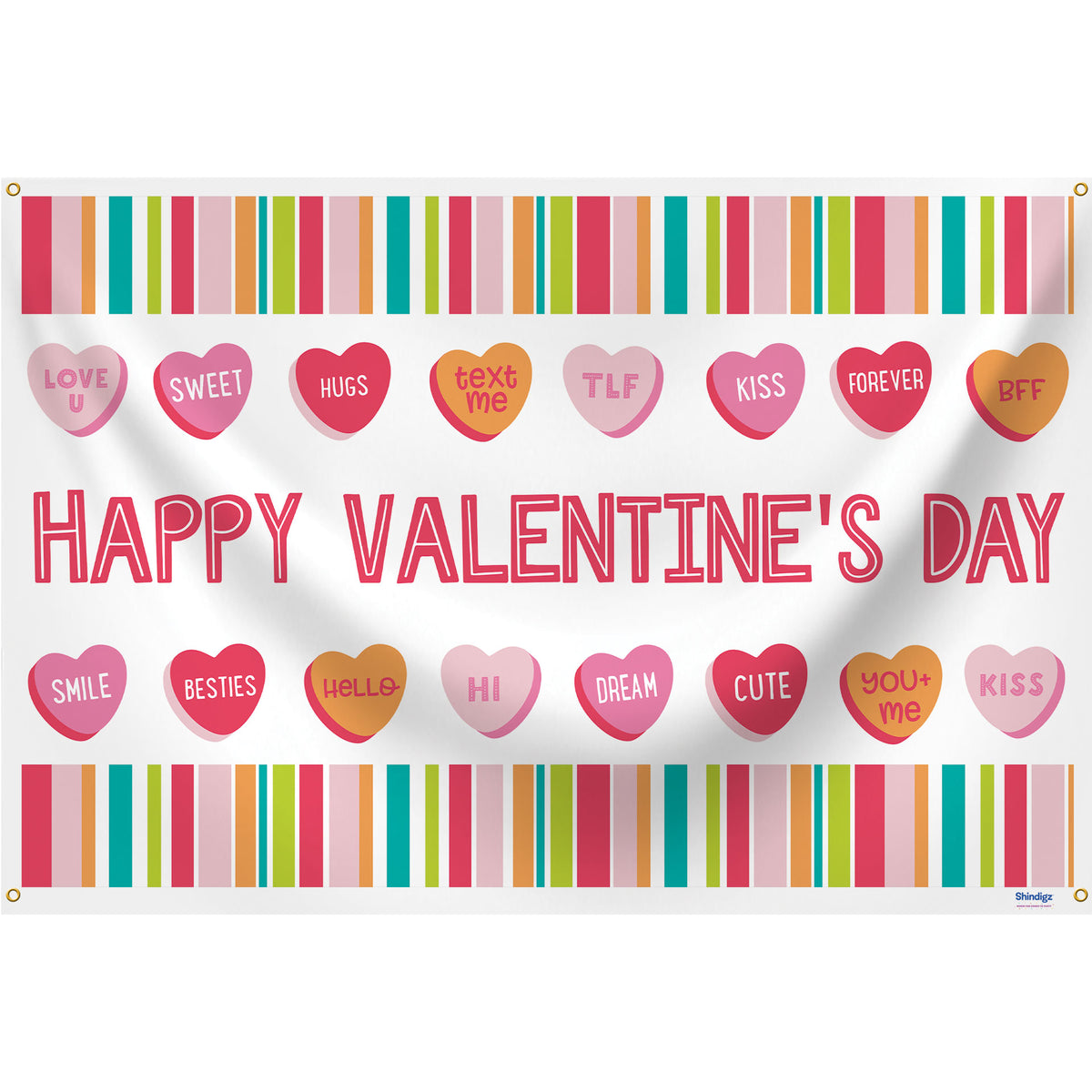 24 in. x 36 in. Hello Valentine Rectangle Banner