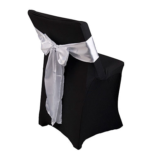 White Satin Chair Sashes