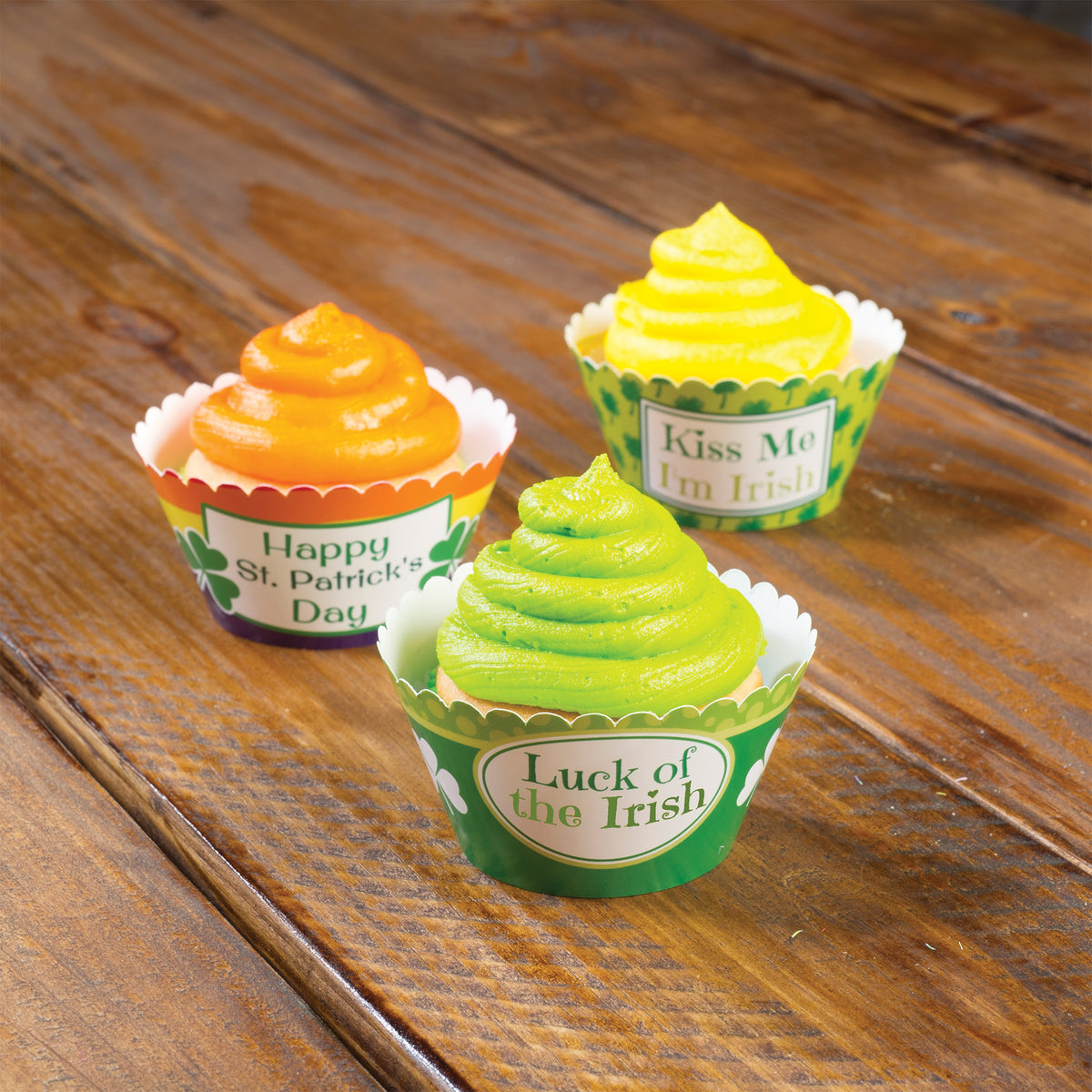Striped Personalized Cupcake Wrappers
