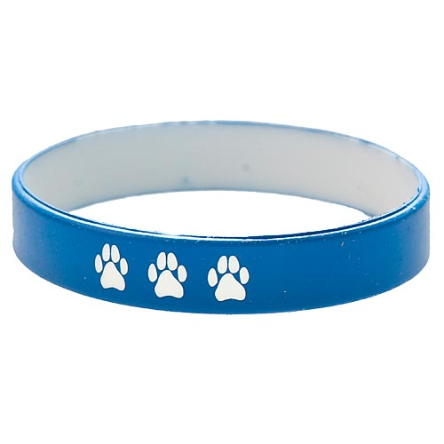 Blue & White Paw Print Wrist Band