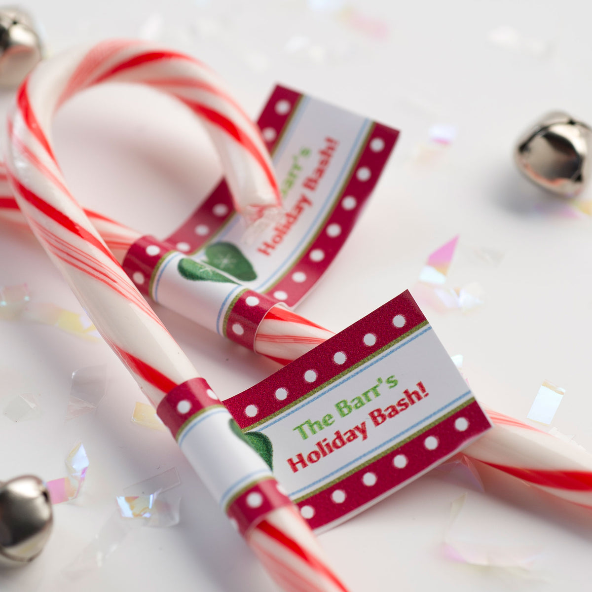 Ho Ho Holiday Personalized Candy Cane Stickers