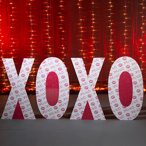 4 ft. 2 in. XOXO Letter Standee Set