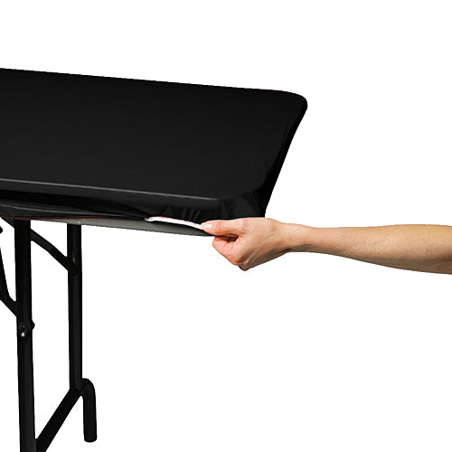 Black Oblong Stay Put Table Covers