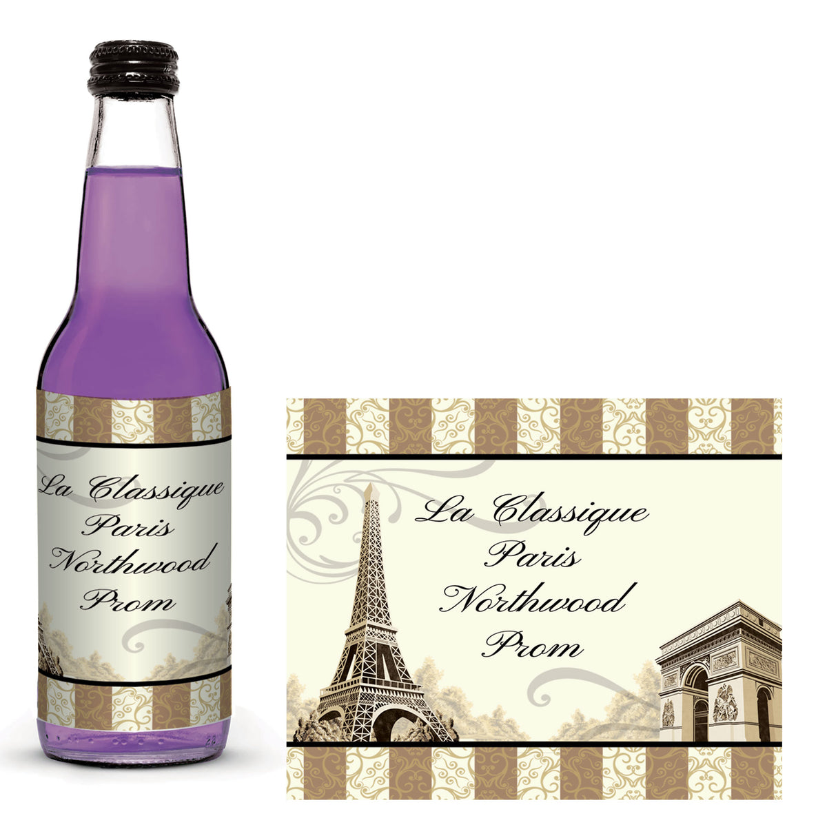 La Classique Paris Glass Bottle Labels