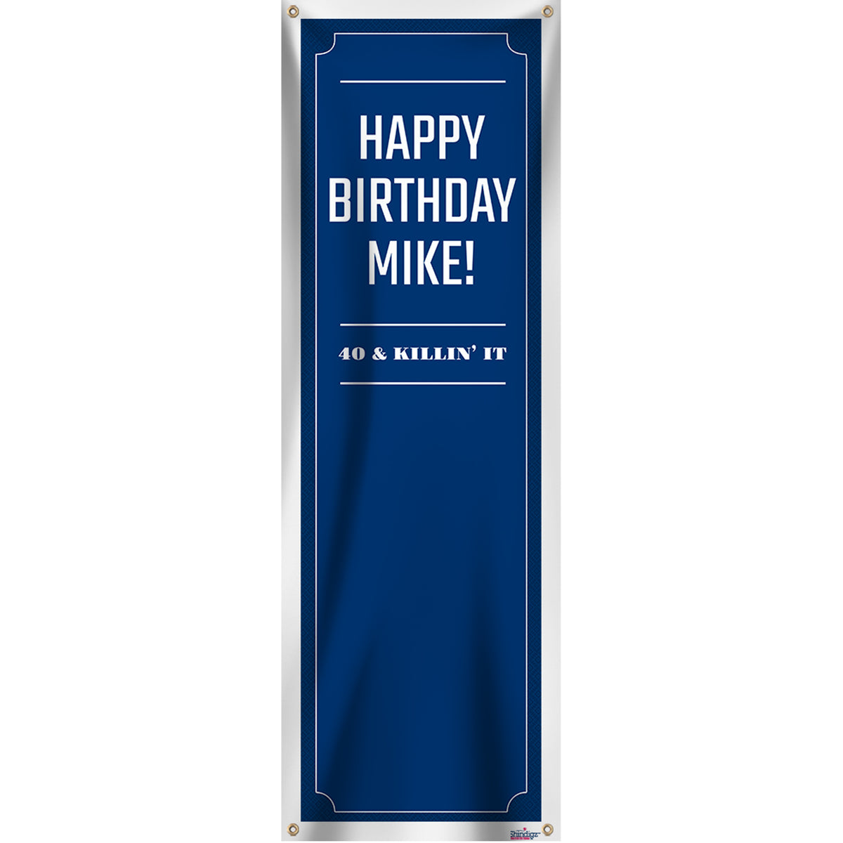 Birthday Legend Personalized Vertical Banner