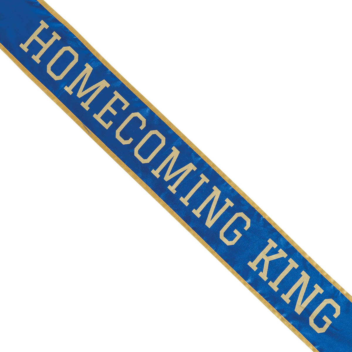 Blue & Gold School Color Homecoming King Sash