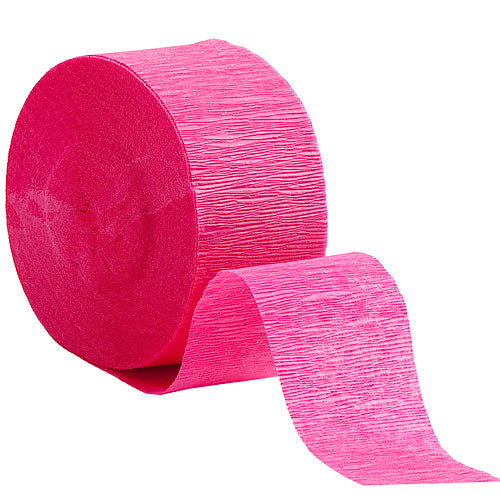 Hot Pink Crepe Streamers