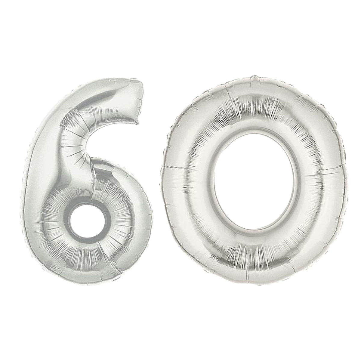 Silver 60 Balloon Number Set