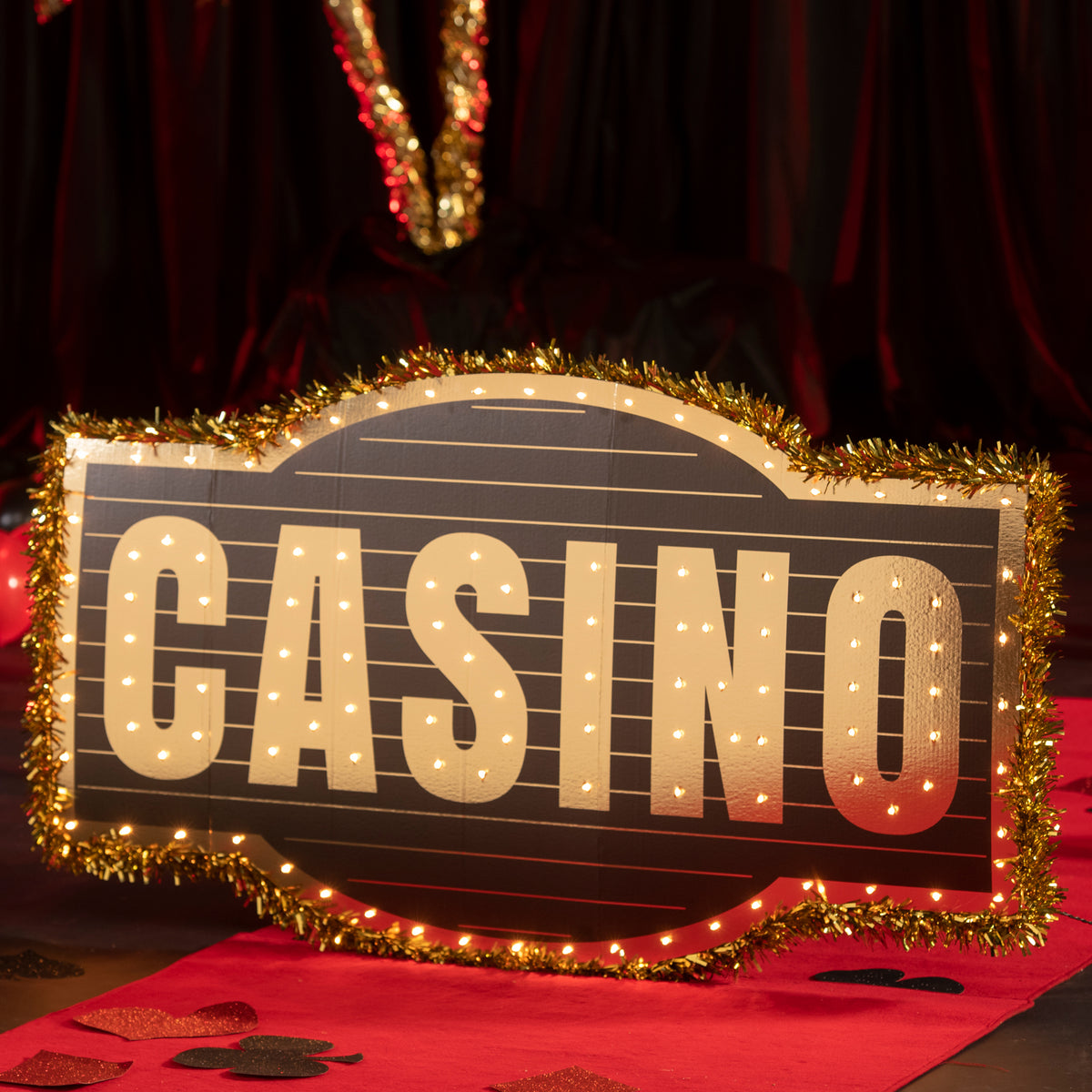 3 ft. High Stakes Casino Sign