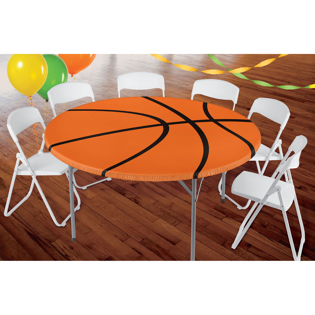 Basketball Round Fitted Table Cover