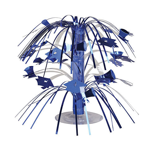 Blue Grad Mortarboard Mini Cascade Centerpieces