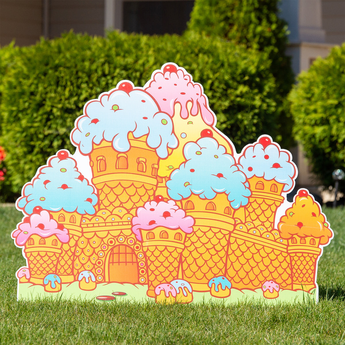 2 ft. 11 in. Candy Land Candy Castle Yard Sign