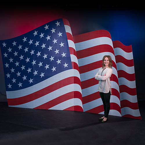10 ft. American Flag Standee