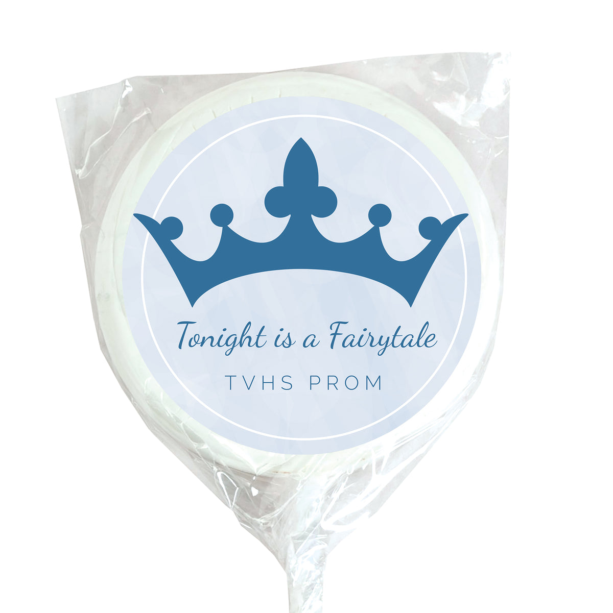 Tonight is a Fairytale Personalized White Swirl Lollipops